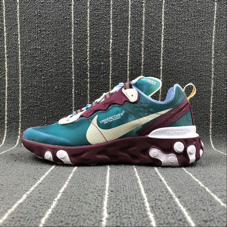 Cheap Wholesale Nike React Element 87 Undercover Purple Red [eacock Blue Violet Rouge Paon Bleu